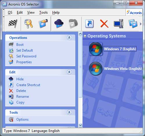 The OS Selector Shows the new Windows Installation
