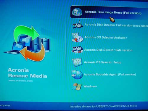 acronis true image bootable usb drive