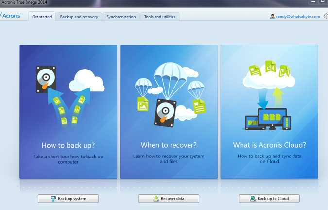 The Acronis True Image 2014 New Interface