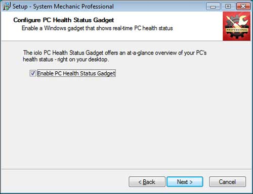 Enable the PC Health Status Gadget