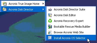 Install the Acronis OS Selector