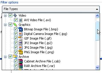 Choose specific file types