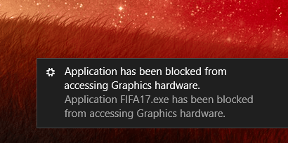 Fix Application Has Been Blocked From Accessing Graphics