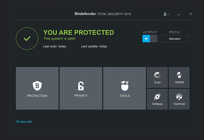 Bitdefender Total Security 2015 up to 3 PCs 1 year