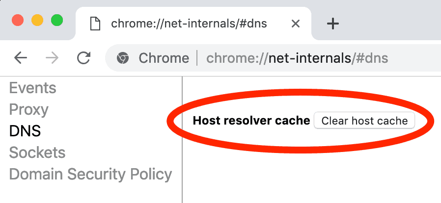 Clear Host Cache in Google Chrome