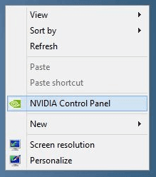 right click on your desktop to open the context menu