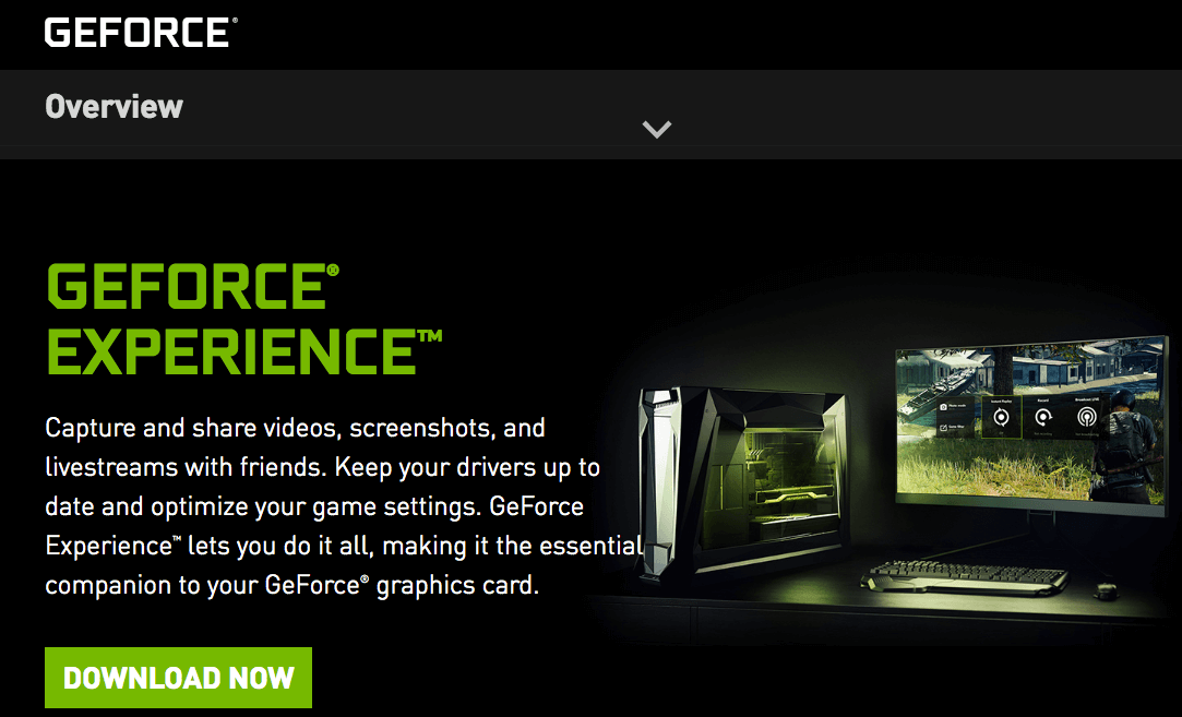 GEFORCE experience driver download