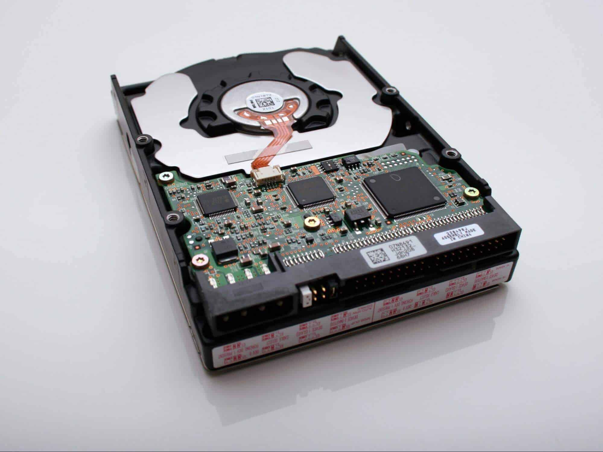 A picture of a hard drive disk