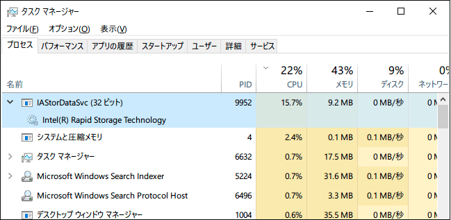 IAStorDataSvc high cpu usage