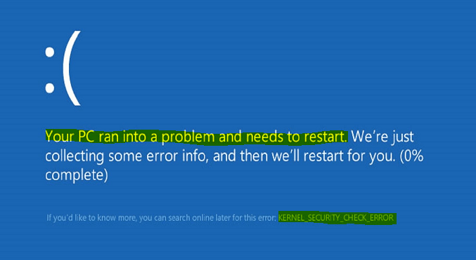 Kernel Security Check Failure BSOD Error