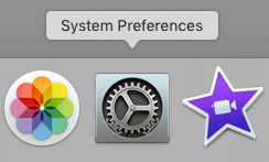System Preferences in the Mac OS toolbar