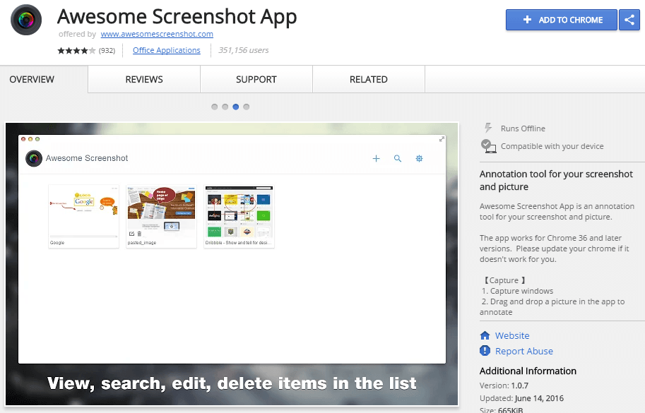 awesome screenshot app