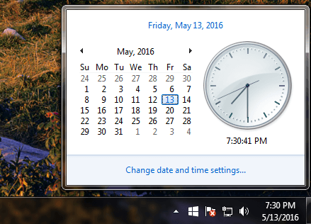 check date and time min