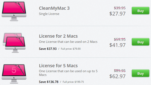 clean my mac 3 license discounted