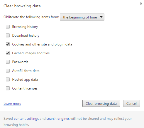 clear browsing data 1