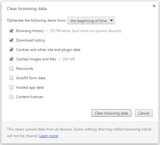 How to clear browsing data on Google Chrome?