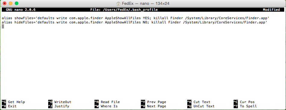 create Terminal aliases Mac OS X