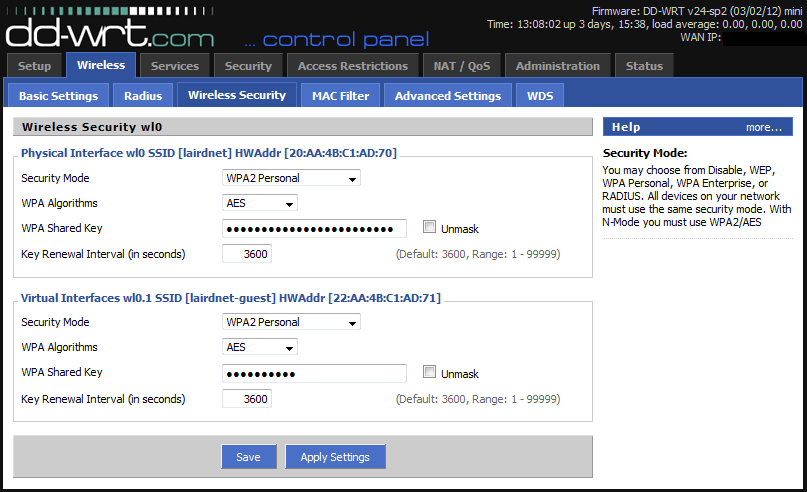 Wireless Security DD-WRT Firmware