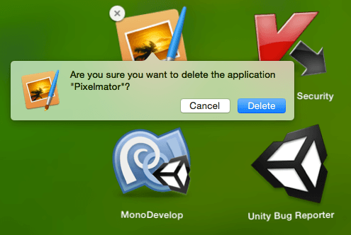delete apps launchpad