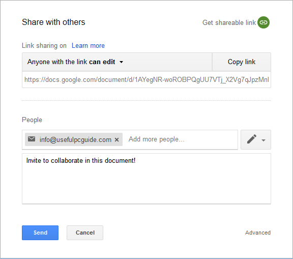 google docs collaboration
