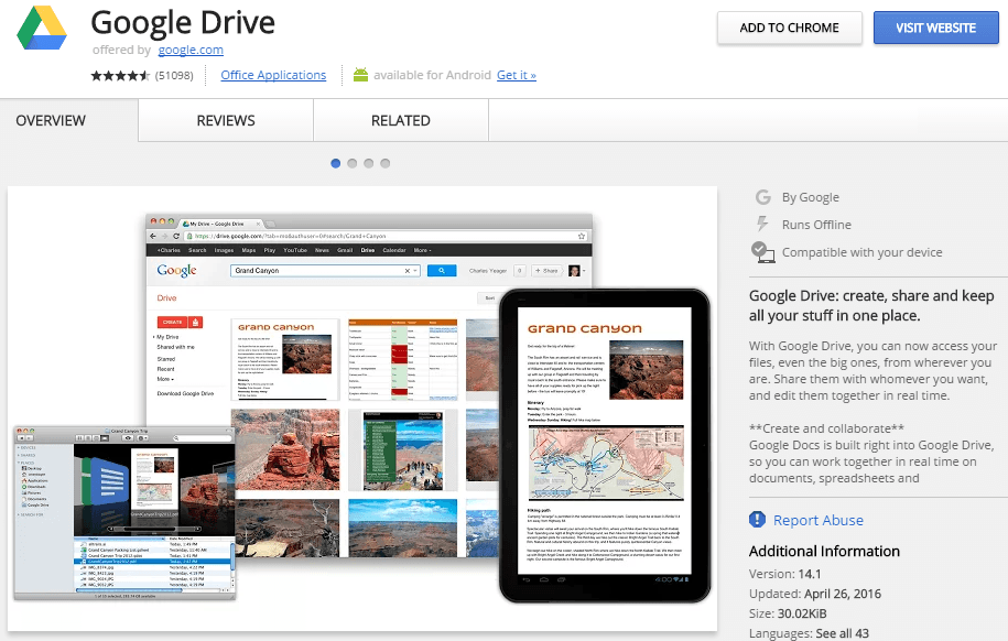 google drive chrome app