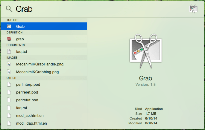 Grab Mac application