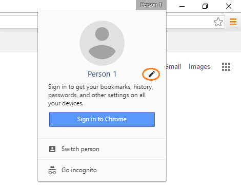new google chrome profile