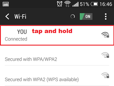 open wifi advanced settings