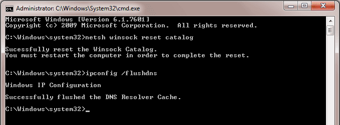 Reset Your IP Address And Flush DNS Cache