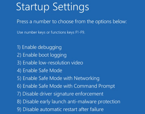 Access Safe Mode in Windows 10