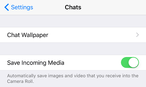 Save Incoming Media WhatsApp