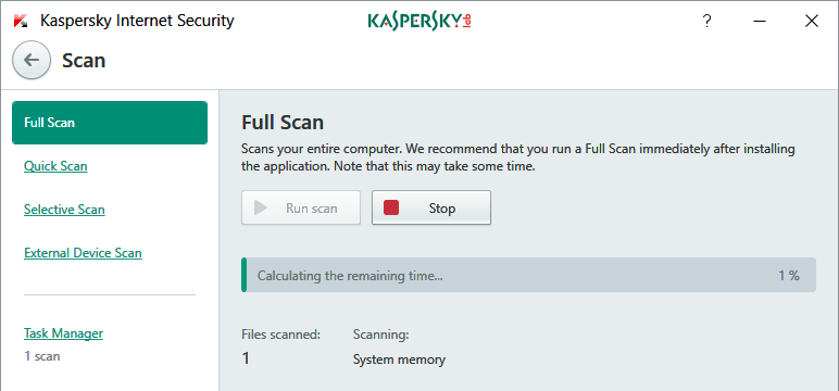 scan your computer from virus