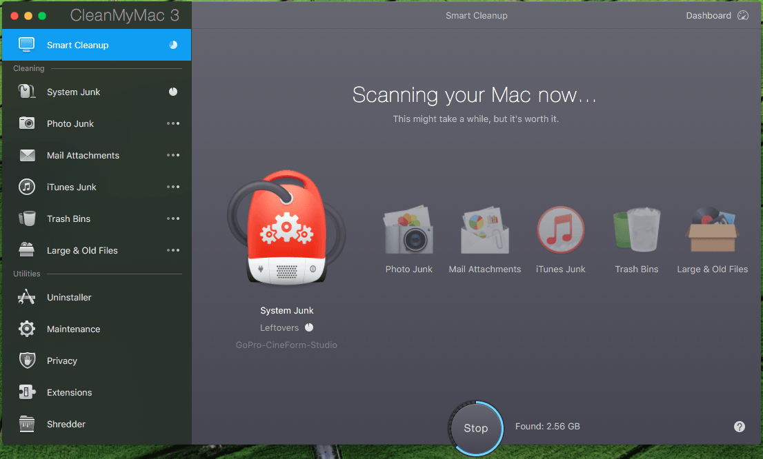 Scanning Your Mac With Clean My Mac 3