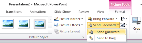 Send Backward PowerPoint