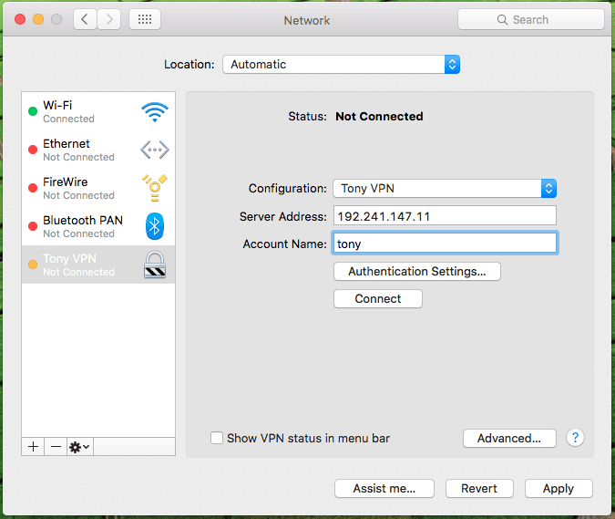 Set Up VPN In Mac