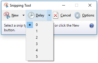 Snipping tool - Delay option