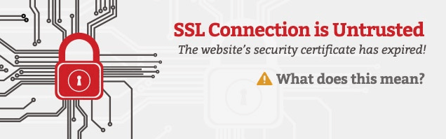 ssl connection is untrusted