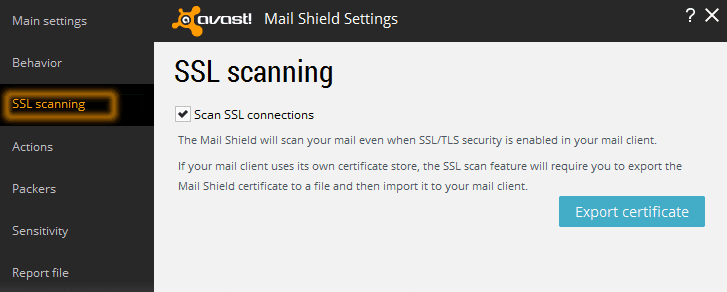 SSL Scanning Feature