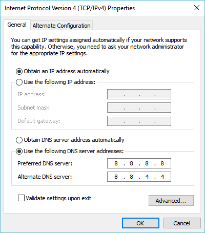 Google's DNS - Third-party DNS Server