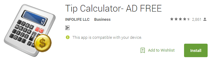 Tip Calculator- AD FREE