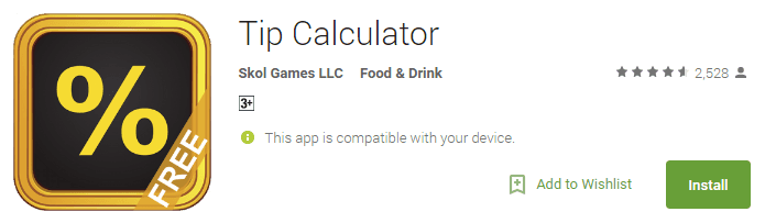 Tip Calculator by Skol Games