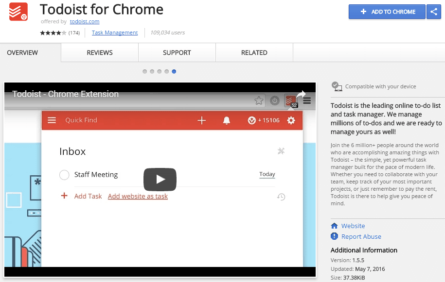 todoist for chrome