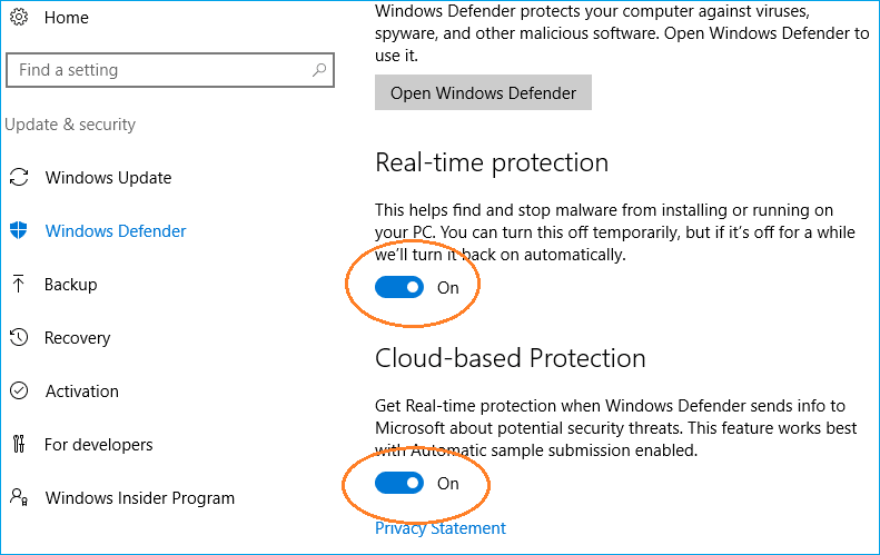turn off windows defender 1