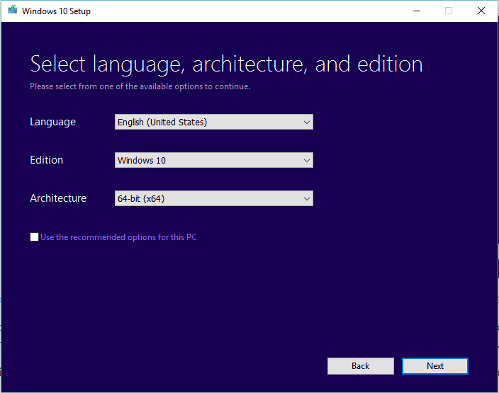 Windows 10 Edition and Architecture