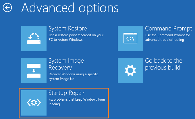 windows 10 startup repair