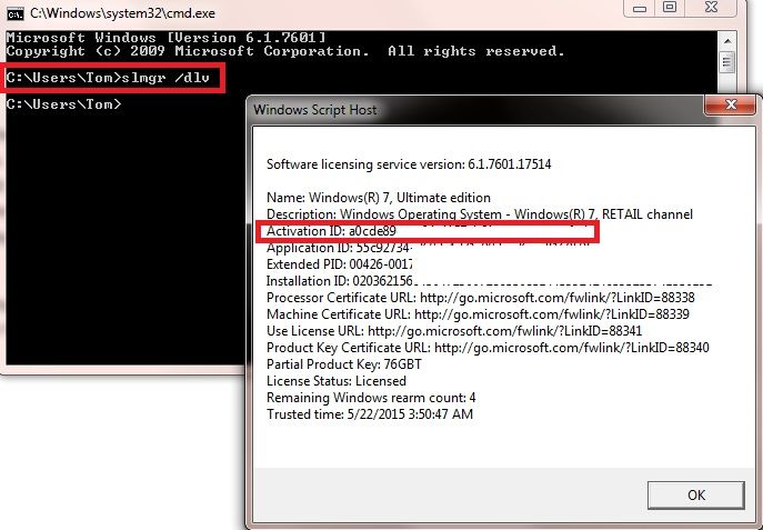 finding windows 8 product key command prompt