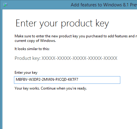 the product key you entered appears to be a default product key and cannot be used for activation